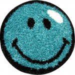 covor albastru zambaret