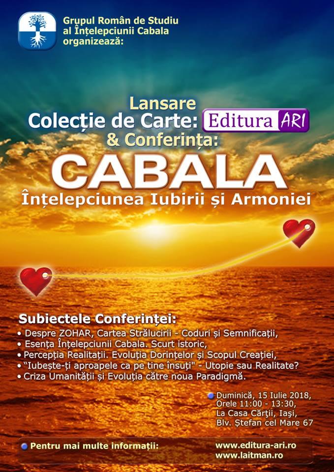 Lansare de Carte si Conferinta de Cabala in Iasi